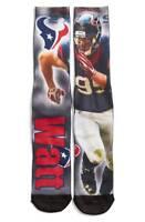 Houston Texans NFL For Bare Feet J.J. Watt Player Image Socks SZ Large
