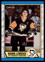 1989-90 O-PEE-CHEE MARIO LEMIEUX PITTSBURGH PENGUINS #1
