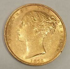 GREAT BRITAIN / 1872 Die nr 38 Full Gold Sovereign,Shield Reverse- High grade !!