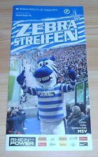 Programme MSV Duisburg-Chemintz FC 24.08.2013 - 3. League 2013/2014