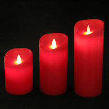 Dancing Flame Candles Red - Flameless Battery Operated Candles