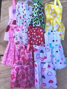 10 pack of Fashion Party Summer Doll Dresses Handmade fit Barbie Great Gift!