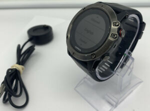 Garmin Fenix 5X Slate Grey Sapphire Crystal/Black Band GPS Watch 51mm Stainless
