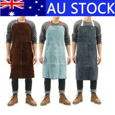 Welding Apron Welder Heat Insulation Cow Leather Protection Carpenter Tool AU ❤