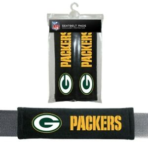 Green Bay Packers NFL Auto Gym 2pc Seat Belt Pads / Shoulder Pads Covers -New