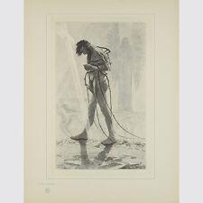 Schneider, Sascha. Judas Ischariot. legno taglio sul Giappone. 1895