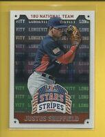 Justus Sheffield RC 2015 Stars & Stripes LONGEVITY Rookie Card # 52 N Y Yankees