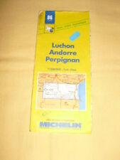 MICHELIN Carte Routière et Touristique N°86 Luchon Andorre Perpignan 1990
