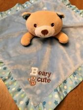 Garanimals Beary Cute infant security blanket baby lovey square says Beary Cute