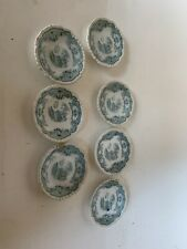 7 john maddock sons Bombay England green butter pat dishes
