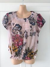 Hip Length Chiffon Floral Tops & Shirts NEXT for Women