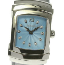 DAMIANI Ego Blue Dial 11P Quartz Leather Belt Men's Watch_497700