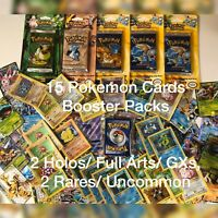 15 Pokemon Cards Booster Packs Lots - 1st Edition Shadowless Base Set To Present