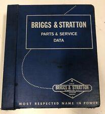 Briggs & Stratton Parts & Service Data Manual MS-3513 REV 98