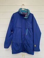HELLY HANSEN HellyTech Mens VTG Red Waterproof Hooded Sailing Jacket Size M