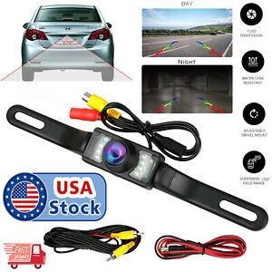 170° Car Rear View Reverse Backup Parking Camera HD Night Vision Waterproof 7LED