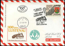 Austria 1987 Balloon Post Flight Cover #C16208