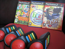 Buzz Ps2 - 3 Games & OFFICIAL Buzzers : Think Fast + Jungle Party + BIG Quiz