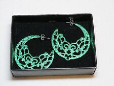 Ladies Womens Avon dangle post earrings Sparkling Green NIB;;