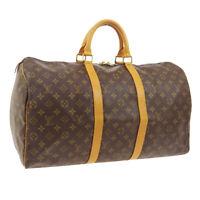 LOUIS VUITTON KEEPALL 50 TRAVEL HAND BAG SP1924 PURSE MONOGRAM M41426 01677