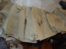 """new QUEEN BEDSKIRT DUSTER SPRINGWOOD PATTERN 60X80"""" NWT"""