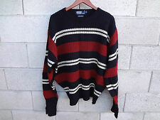 *COOL* POLO RALPH LAURRN  MEN SWEATER  CREW NECK SIZE XL LAMBWOOL CABLE KNIT EUC
