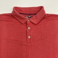 Kirkland Signature Polo Shirt Men's 2XL XXL Short Sleeve Red Hi-Lo Hem Casual