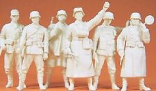 Preiser 1:35 scale 64003 Military Six WWII UNPAINTED Guard FIGURES KIT