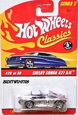 HOT WHEELS CLASSICS SERIES 2 SHELBY COBRA 427 S/C #20/30 CHROME W+