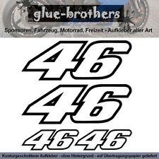 46VR Aufkleber Farbauswahl Valentino Rossi Sticker Moto GP Motorrad