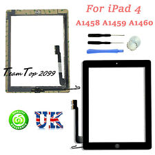 For iPad 4 A1458 A1459 A1460 Black Glass Digitiser Touch Screen Replacement Part