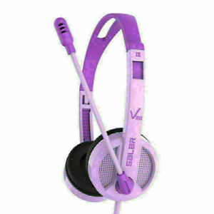 Wired Computer Headphones W/ Microphone Over Ear Stereo Headsets for Desktop PC