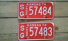 1974 kansas truck license plates new  57484 dodge chevy ford  international mack