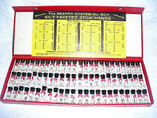 Box Best Fit Gilt Faceted Stick Hands And Usage Chart for Watch Repair