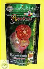 Flowewerhorn Head Up Best Okiko Huncher Fish Platinum Quick Green Fish Food 100g