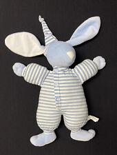 "North American Bear Co.15"" Sleepyhead Bunny Blue and White Stripes"