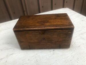 1889 Singer Sewing Machine Oak Puzzle Box Attachments Purple Velvet Wood Tread