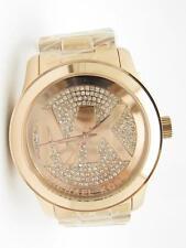 Michael Kors MK-5661 Rose Gold Tone Runway Crystal Dial MK Logo Watch New Gift