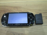 Sony PSP 1000 Console Piano Black w/battery pack Japan o62