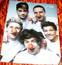 ONE DIRECTION 1D / SUPERNATURAL RUSSIAN FOLD OUT POSTER 2013 IN MINT CONDITION 1