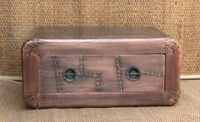 Coffee Table Single Drawer Aviator Copper Antique Home Cafe Furniture PAG-185
