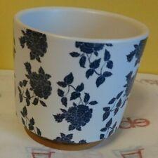 Wonderful Succulent Flower Pot pots New White with Blue Flowers