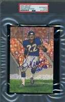Paul Krause HOF 98 PSA DNA Coa Signed Slabbed Goal Line Art Card Autograph