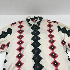 vintage wrangler authentic western apparel cowgirl shirt southwest tribal print