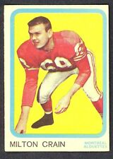 1963 TOPPS CFL FOOTBALL 46 MILTON CRAIN MONTREAL ALOUETTES EX-NM CARD