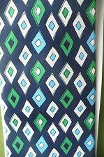 Baekgaard Vera Bradley Geometric Blue Green Diamond Mosaic Silk Tie RARE Retired
