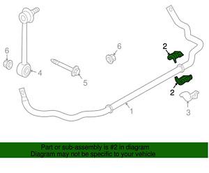 For Porsche Cayenne 03-10 Rear Set of 4 Stabilizer Sway Bar Bushings OEM Genuine
