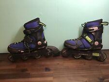 K2 Raider Rollerblades Inline Skates Adjustable Youth size 1-5 Blue Lace Up