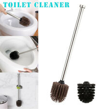Toilet Brush Silicone Heads Stainless Steel Handles Replacement Cleaning Tool