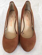Next Sole Survivor Women Tan Brown Leather Shoes Size 4 (N46).